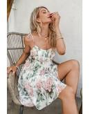 Linka Floral Print Flared Sundress