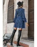 Kate Peter Pan Collar Blue Skater Dress