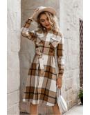 Jade Plaid Shirt Dress
