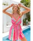 Zora Open Back Pink Mini Dress