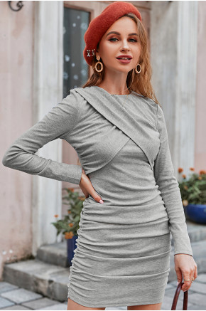 Nadia Ruched Bodycon Dress