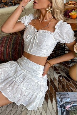Ditsy White Dress Co-ord Set