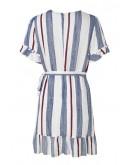 Casey Striped Dress in Blue