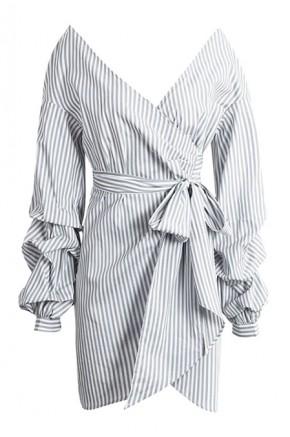Kacie Off Shoulder Wrap Dress