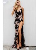 Edessa Sequin Maxi Dress in Black