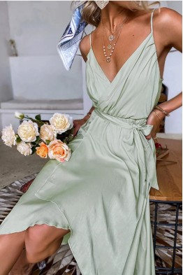 Tania Wrap Dress with Straps