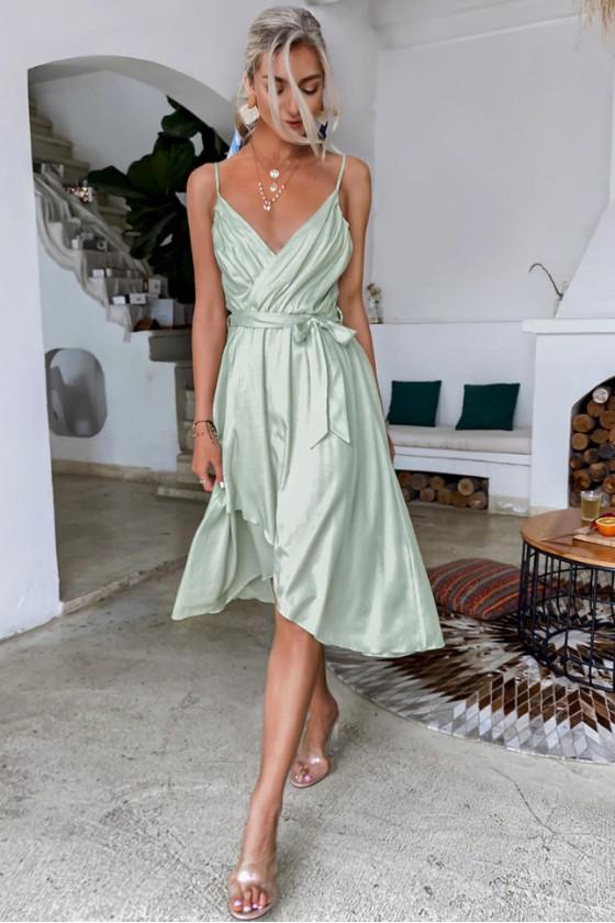 Tania Wrap Dress with Straps
