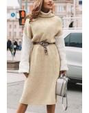Tiara Three Color Sweater Dress