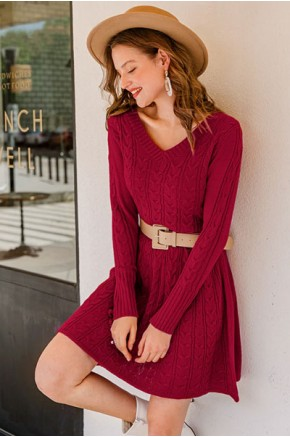 Bethanie Knitted Skater Dress