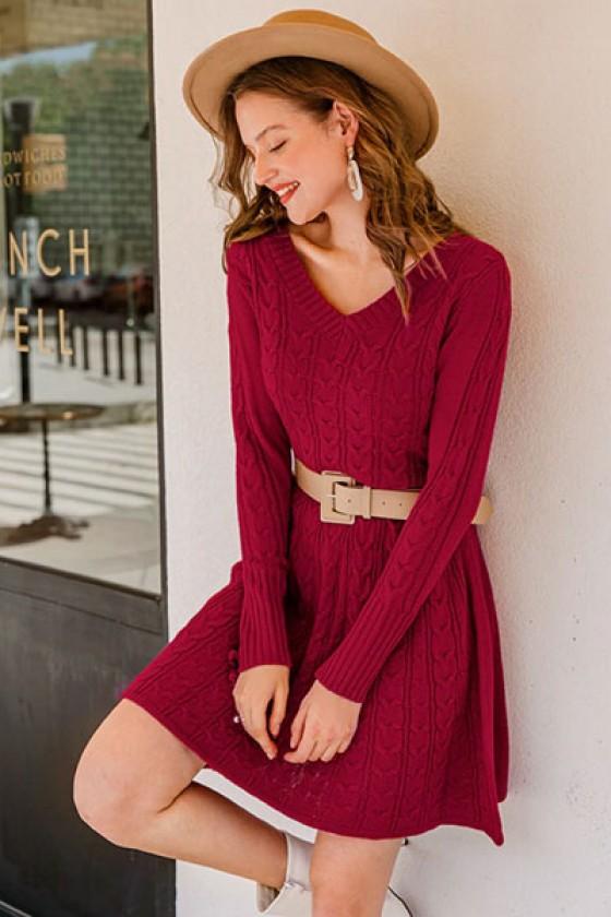 Bethanie Knitted Skater Dress