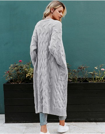 San Cassiano Long Cardigan in Grey