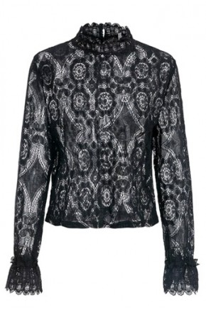 Reina Lace Blouse in Black
