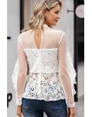 Kiara White Lace Blouse