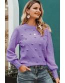 Gala Pom-Pom Sweater in Purple