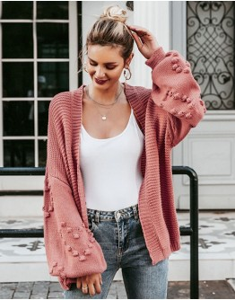 Acne Wide Sleeves Pink Cardigan