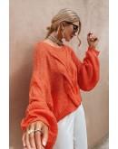 Aya Oversized Pullover in Orange