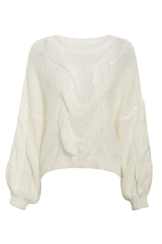 Aya Oversized Pullover in White