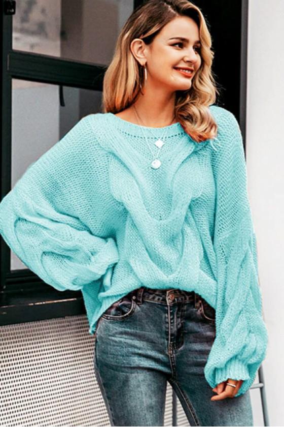 Aya Oversized Pullover in Sky Blue