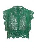 Zaria Crochet Crop Top in Green