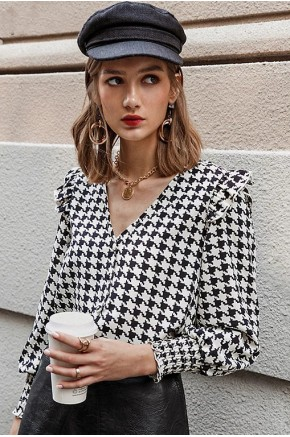 Isabella Patterned Blouse