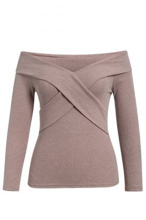 Galla Criss-Cross Front Knit Top