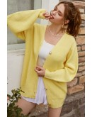 Fleur Button Front Yellow Cardigan