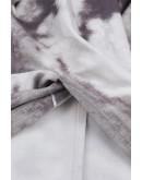 Tie Dye Twisted Top in Grey