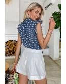 Audrey Ruffle Sleeve Summer Top