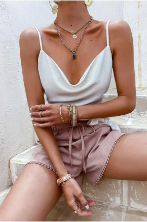 Anabel Spaghetti Strap Crop Top