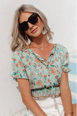 Gabby Floral Crop Top
