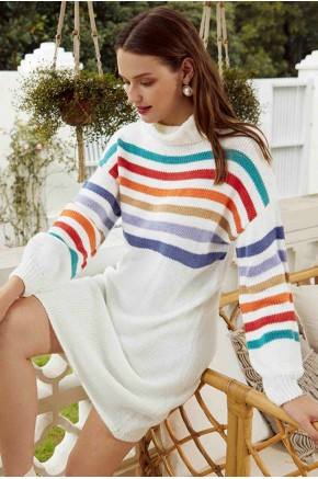 Merletta Stripes Sweater Dress