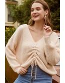 Fae Drawstring Cozy Sweater