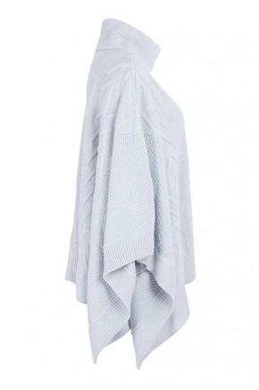Lauren Knit Poncho in Grey