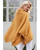 Lauren Knit Poncho in Camel