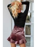 Erica Velvet Shorts in Pink