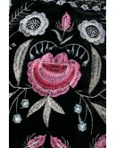 Letitia Embroidered Black Skirt