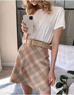 Annecy Belted Mini Skirt