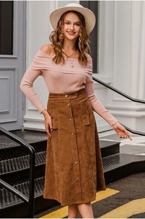 Mikaela Corduroy Skirt