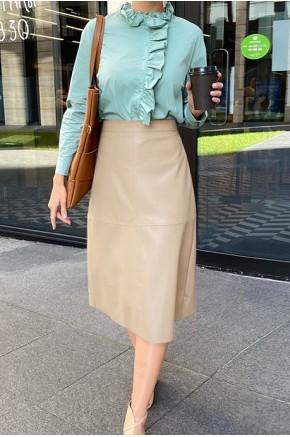 Evie Midi Skirt in Cream