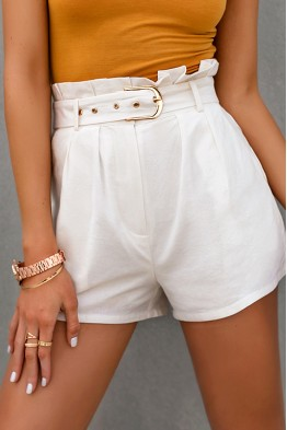 Veronike White Shorts
