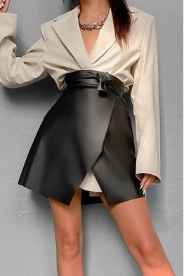 Chantelle Wrap Mini Skirt