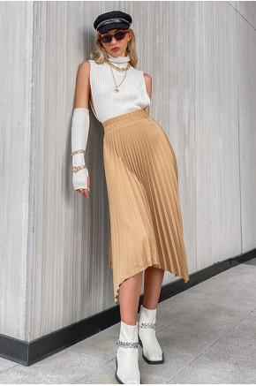 Margaret Asymmetric Pleated Skirt