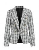 Jo Tweed Plaid Skirt Suit