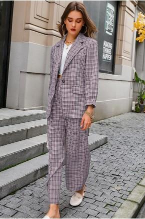 Claire Oversized Blazer Co-ord in Purple