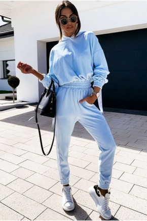 Kimberly Plush Tracksuit in Blue