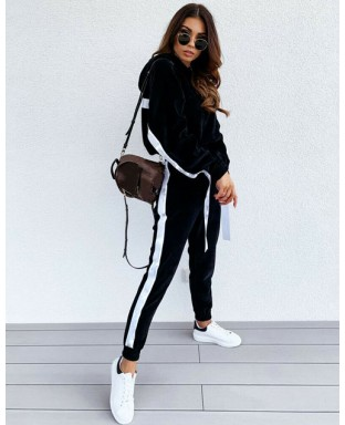 Kimberly Plush Tracksuit in Black