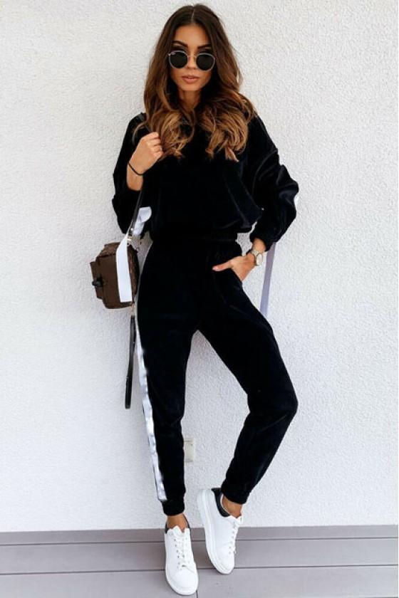 Kimberly Plush Tracksuit in Black