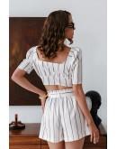 Dacia Striped Shorts Matching Set