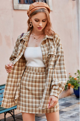 Demi Boyfriend Shirt & Skirt Co-ord