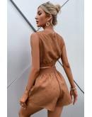 Melanie Crop Top & Shorts Set